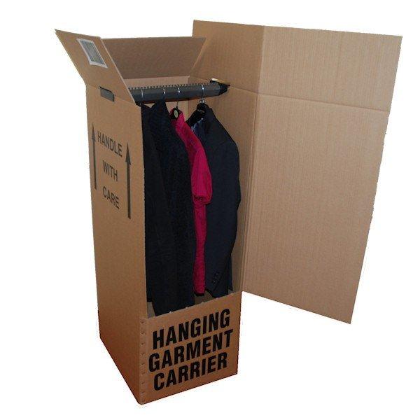 tall wardrobe box